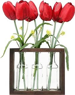 flower vase wooden stand