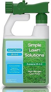 حداکثر سبز و رشد- ازت بالا 28-0-0 NPK- کودهای مایع طبیعی مواد غذایی چمن - بهار و تابستان- هر نوع چمن- راه حل های ساده چمن ، 32 اونس - فرمول رهاسازی سریع و کند آهسته