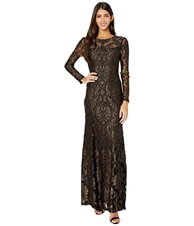BCBGMAXAZRIA Eve Long Knit Dress (Black Combo) Women