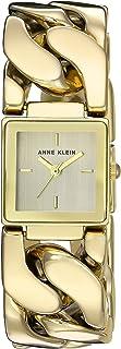 Anne Klein AK/2664CHGB reloj de pulsera con cadena dorada para mujer