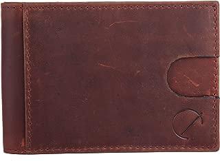 Front Pocket Minimalist Genuine Leather Slim Money Clip Wallet RFID Blocking