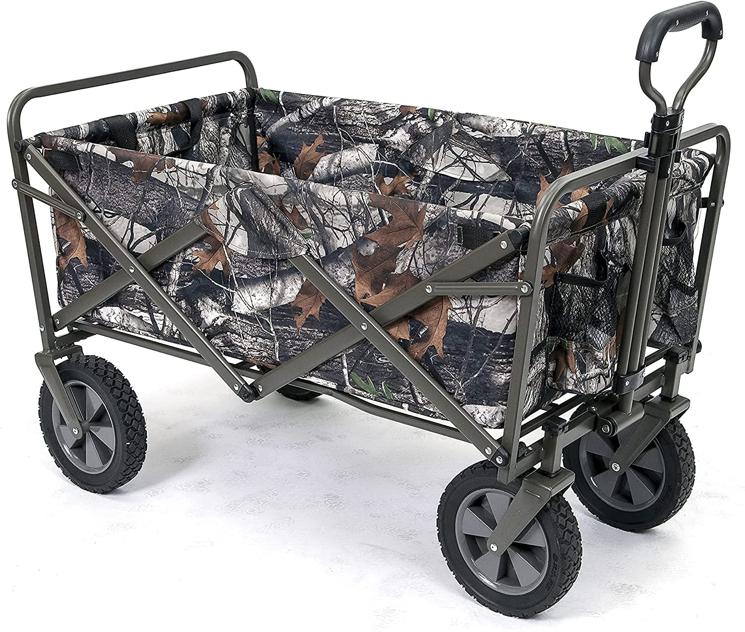 Outdoor Garden Wagon with Handle Big Wheels Double Layer, All Te