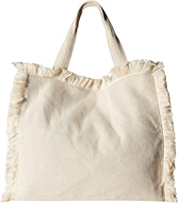 Hat Attack - Fringed Canvas Tote