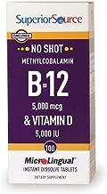 Superior Source Methyl B12 and Vitamin D3 5000 IU Multivitamins, 5000 mcg, 100 Count