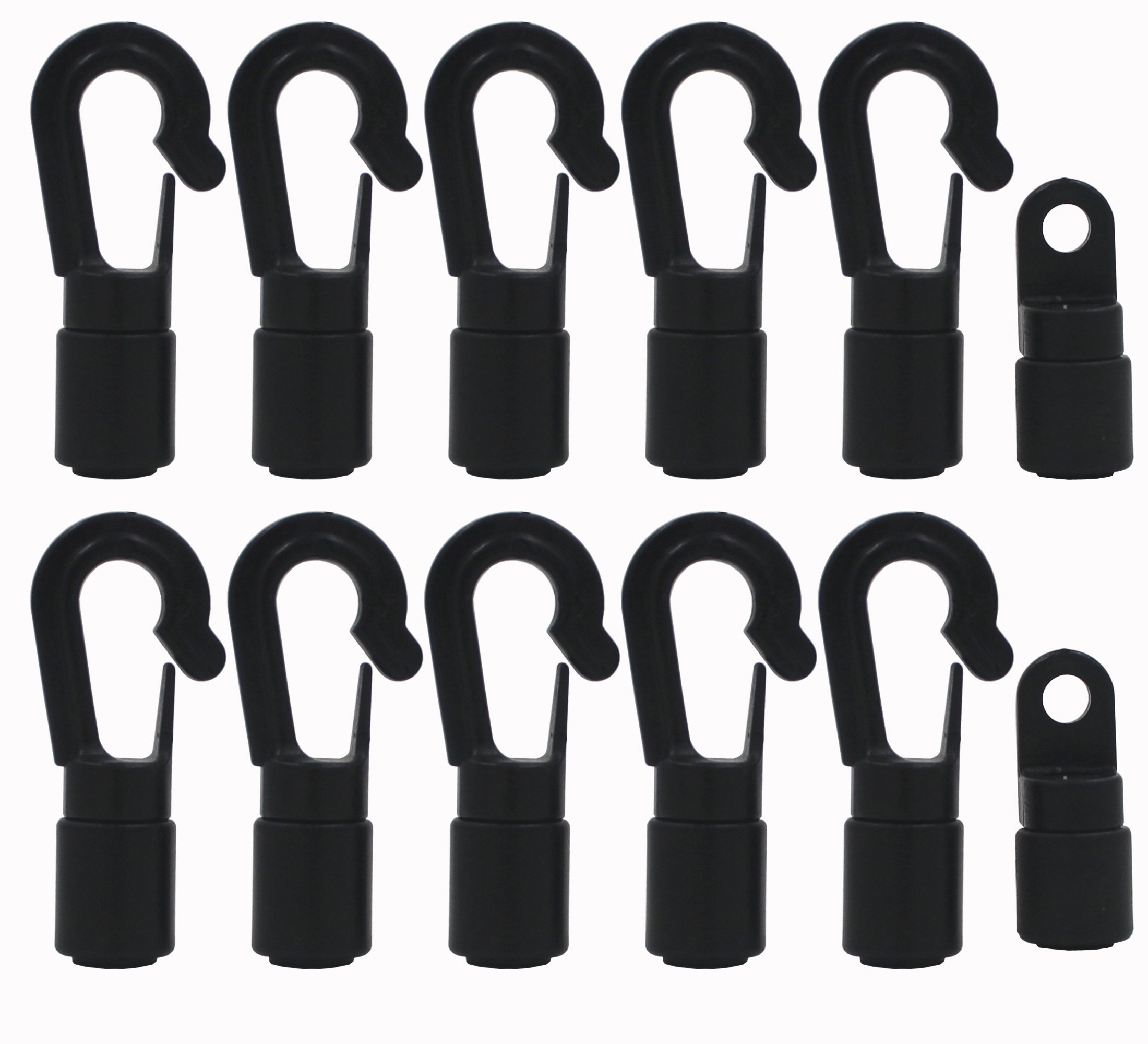 10 x Heavy Duty Shock Cord End Hooks Bungee Rope Accessories for Canoe Kayak