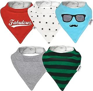 Lovjoy Bandana Bibs - Pack of 5 Boys Designs (Fabulous Five)