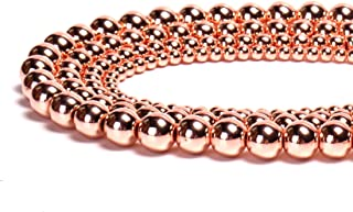 Hematite Natural Stone Faceted Round Loose Beads Semi Gemstone Healing Power Energy Stone for Jewelry Making DIY Necklace Bracelet Making Strand 15.5