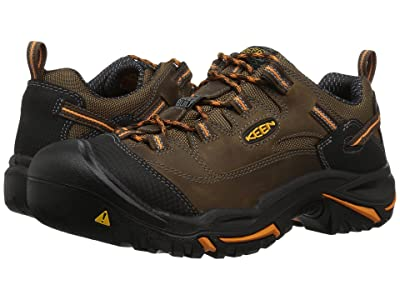 Keen Utility Braddock Low Soft Toe (Cascade Brown/Orange Ochre) Men