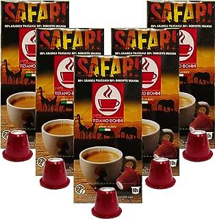 Caffe Bonini Nespresso Compatible Gourmet Coffee Capsules, for Original Line Nespresso Machine, Safari Nespresso, 50 Count