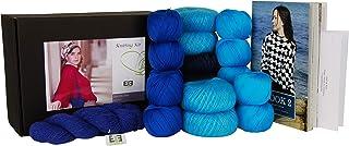 DesignEtte Kit de tricot fille sur feu, Turquoise/bleu, S/M