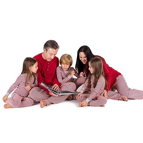 9fd798e2e Burt's Bees Baby Family Jammies, Candy Cane Stripe, Holiday Matching Pajamas,  100%