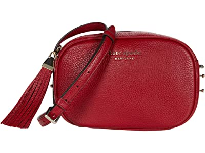 Kate Spade New York Annabel Medium Camera Bag (Red Currant) Handbags