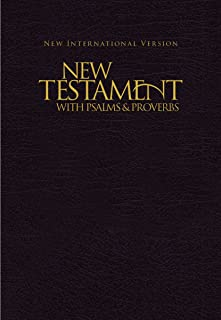 NIV, New Testament with Psalms and Proverbs, Pocket-Sized, Paperback, Black