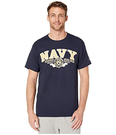 Champion College Navy Midshipmen Jersey Tee (Navy 3) Men