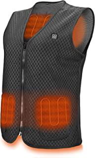 PKSTONE Heated Vest, USB Charging Electric Heated Jacket Washable for Women Men Outdoor Motorcycle Riding Hunting