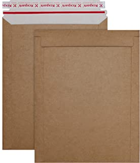 Xxcxpark 25 Pack kraft brown Rigid Mailers 9.25 x 11.75 Inches, Self Seal Photo Document Mailers Premium Cardboard Keep Fl...
