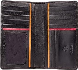 Portafogli uomo VERA PELLE Polo porta spiccioli clip documenti carta d/'identità