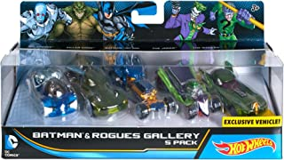 Hot Wheels DC Comics Batman and Rogues Gallery Vehicle, 5 Pack