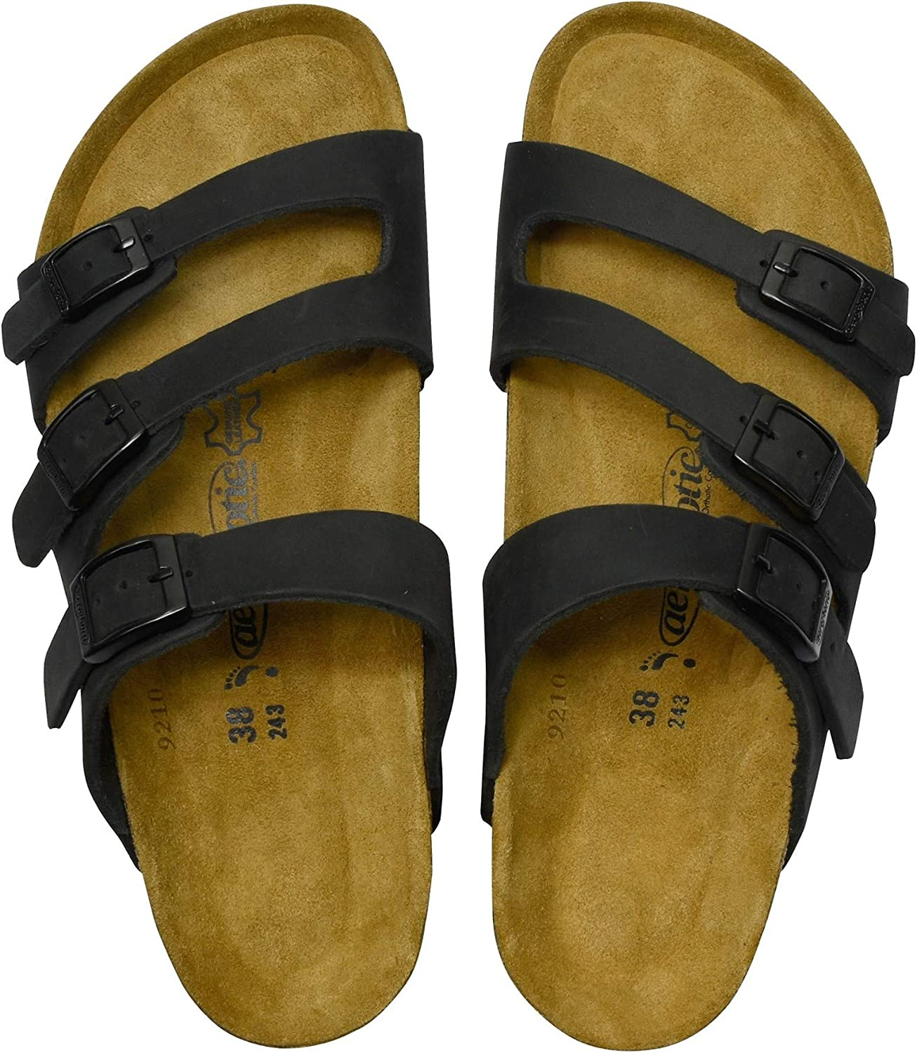 AEROTHOTIC - Comfortable and Arch Strappy Leathe Support San Diego Mall Footbed Safety trust