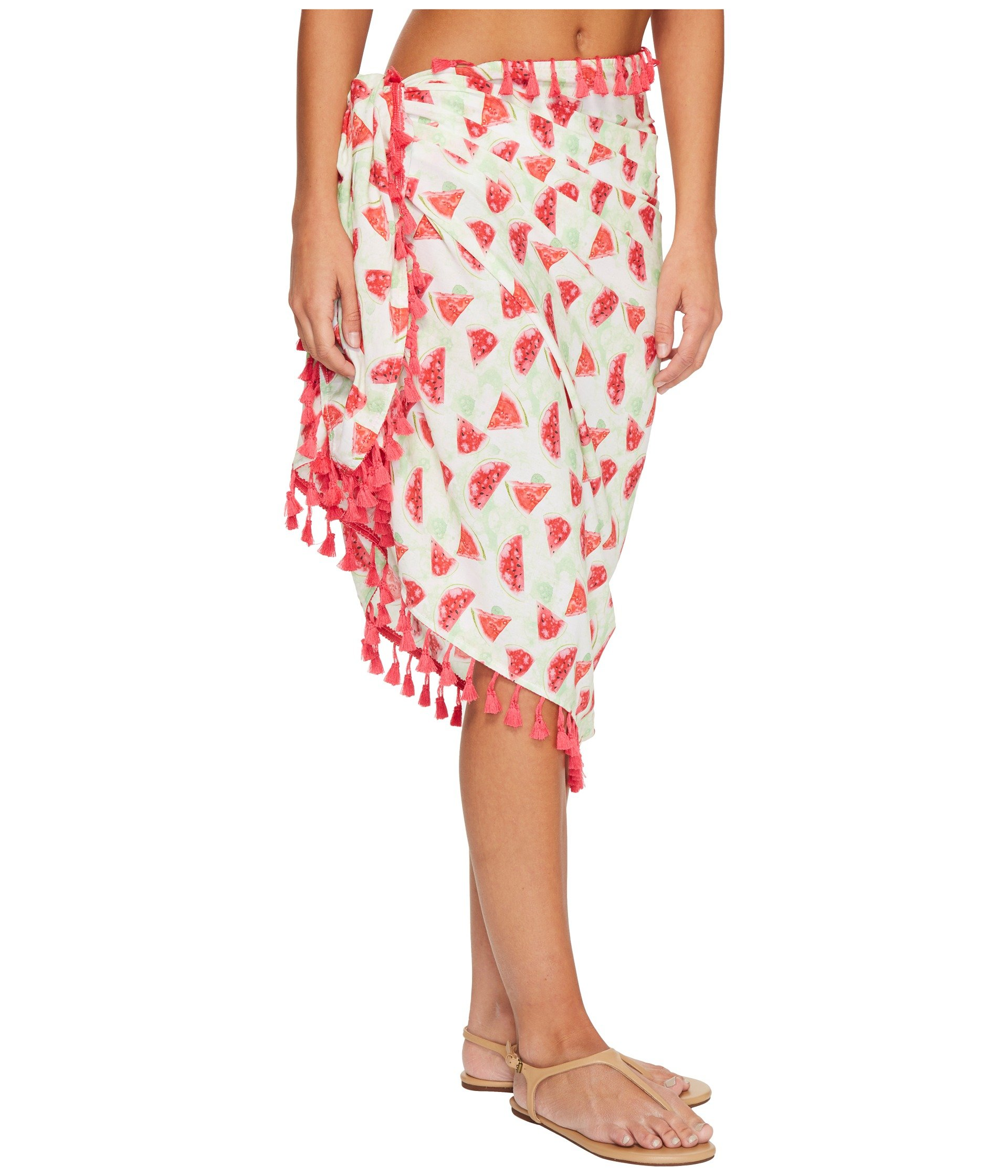 Pink Sarong Cover up Bss1807 Diego Woven Hat Watermelon Company San Print x6q7gC