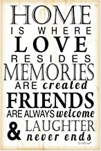 Home is Where Love Resides Farmhouse Style Wood Sign 12x18