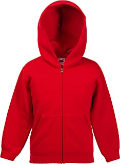 Fruit of the Loom Classic Hooded Sweat Jacket Kids Sudadera con Capucha para Niños