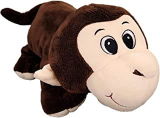 Anico Collectible Plush Toy Laying Down, Stuffed Animal, Monkey, 13 Inches Tall