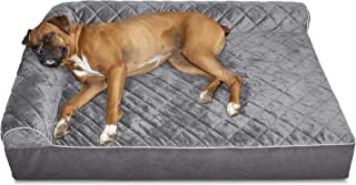 Furhaven Pet Dog Bed   Orthopedic L Shaped Chaise Lounge Sofa-Style Living Room Corner Couch Pet Bed w/ Removable Cover for Dogs & Cats - Available in Multiple Colors & Styles