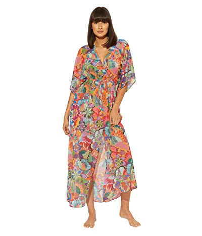 Bleu Rod Beattie Make It Pop Long Chiffon Cover-Up Dress (Multicolored) Women