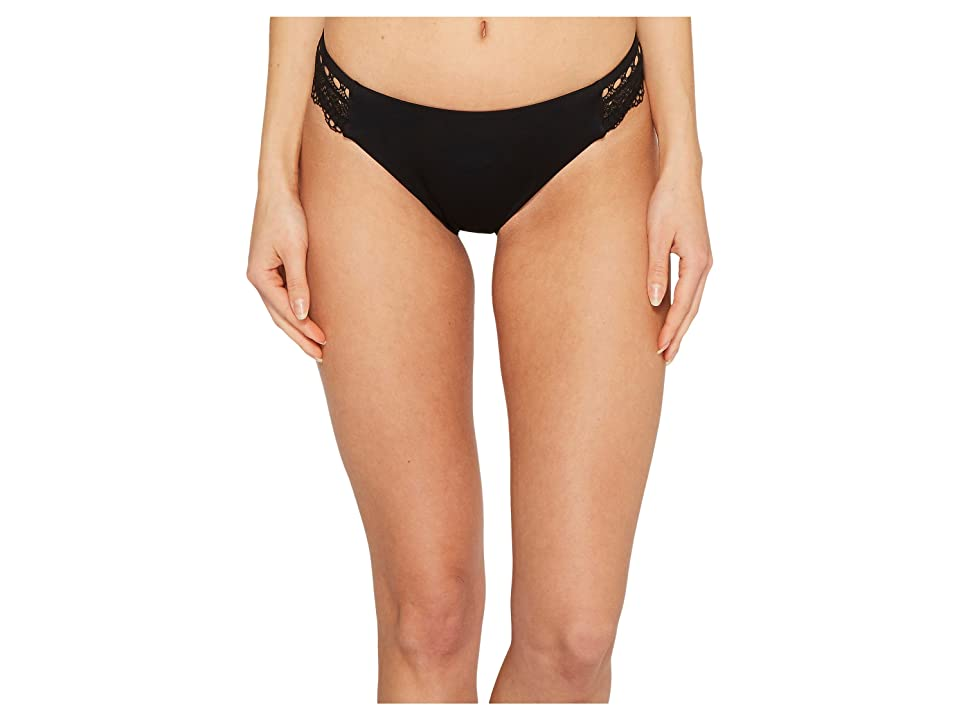 Laundry by Shelli Segal Scallop Lace Hipster Bikini Bottom (Black) Women