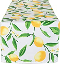 DII Lemon Bliss Outdoor Tabletop Collection Stain Resistant & Waterproof, Table Runner, 14x72