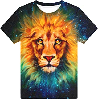 Hgvoetty Boys Girls 3D Shirts Casual Crewneck T-Shirts Unisex Short Sleeve Tops Graphic Tees 6-16 Years