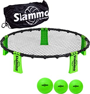 GoSports Slammo Game Set (Includes 3 Balls, Carrying Case and Rules) - Outdoor Lawn, Beach & Tailgating Roundnet Game for ...