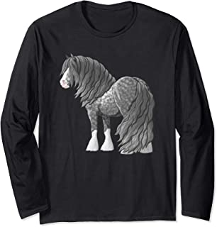 Dapple Gray Gypsy Vanner Irish Cob Draft Horse Long Sleeve T-Shirt