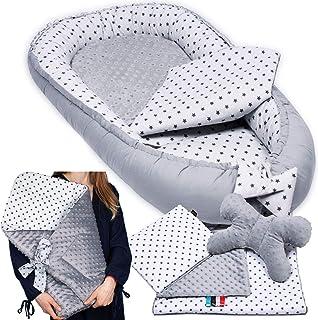PALULLI - Set de 6 piezas para bebé (nido de 95 x 55 cm, cojín de lactancia, colchón para bebés, manta, cojín plano, cojín cervical, suave como el acurrucar