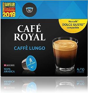 Café Royal Caffé Lungo 48 Dosettes Compatibles avec le Système Nescafé Dolce Gusto/Intensité 4/10 300 g