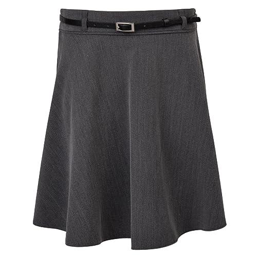 143f4b64a6 Ex UK Store Girls School Skirt with Belt Soft Touch Adjustable Waist 3-16  Years