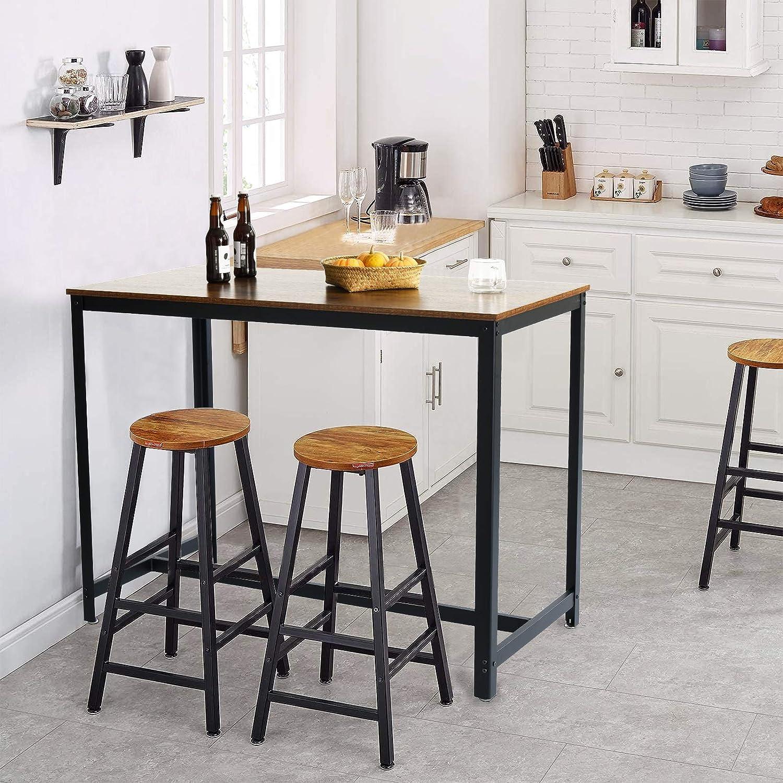 IBUYKE Metal Bar Table, 9 x 9 x 9 cm, Dining Table, Kitchen ...