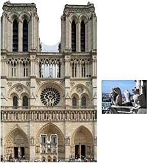 Notre Dame Cathedral Cardboard Cutout/Standee/Standup Fan Pack, 173cm x 103cm Includes Free Mini Cutout and 8x10 Photo