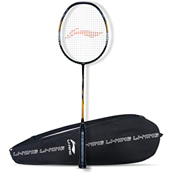 Li-Ning G-Force Superlite Strung Badminton Racquet with Free Full Cover (78 Grams Light. 32 Pounds Tension.)