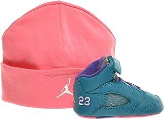 Jordan 5 Retro (GP) Infants Basketball Shoes Tropical Teal/White-Digital Pink-Court Purple 552494-307