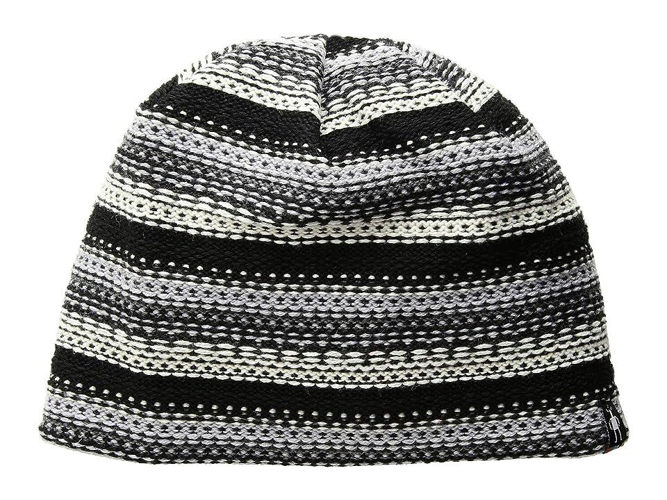 Smartwool Marble Ridge Hat (Medium Gray Heather/Winter White) Beanies