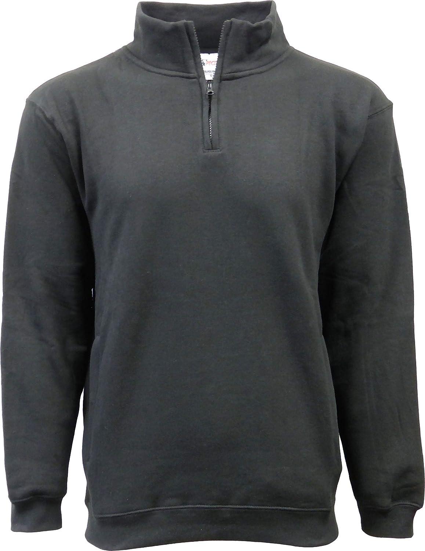 SPECIEN Men's Quarter Covered Zipper famous Sweatshirt Jacket wi Super special price Fleece