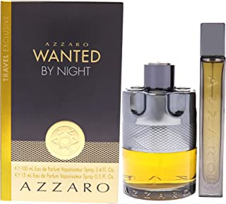 Azzaro Wanted By Night Gift Set For Men, Eau de Toilette 100 ml and 15 ml
