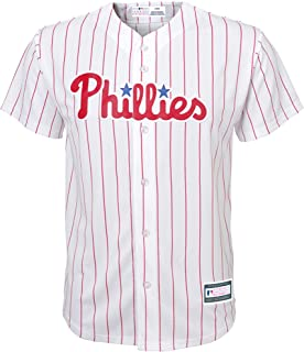 Outerstuff Philadelphia Phillies Word Mark White Youth Cool Base Home Replica Jersey