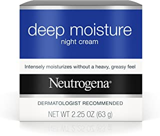 Neutrogena Deep Moisture Night Cream with Glycerin & Vitamin D3, Facial Moisturizer for Dry Skin with Shea butter, Glycerin, Vitamin D3, Non Greasy & Non Comedogenic, 2.25 oz