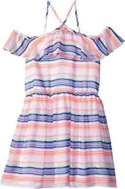Tommy Hilfiger Kids - Printed Multi-Stripe Dress (Big Kids)