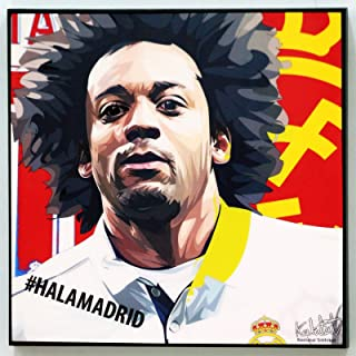Marcelo Vieira Real Madrid Poster Quotes Wall Decals Photo Painting Framed pop Art Football Soccer