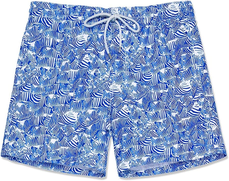 FMSZDSTMDNSDK Short Shorts for Men, Men's Swim Trunks Quick Dry Beach Board Shorts Swimwear Bathing Suits with Mesh Lining Surfing Swimming Shorts for Men (Color : SCBSZKM148, Size : L)
