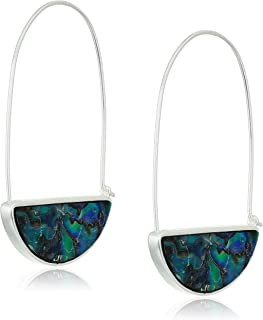 Lucky Brand Abalone Pave Hoop Earrings